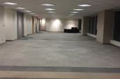 Modern Commercial Office space installed floor check pattern carpet