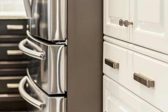 close up of drawers and handles