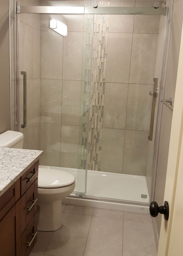 bathroom showing toilet and shower